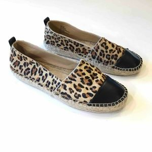 Kenneth Cole Leopard Animal Hair Slip On Loafer